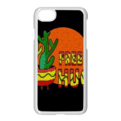 Cactus   Free Hugs Apple Iphone 7 Seamless Case (white) by Valentinaart