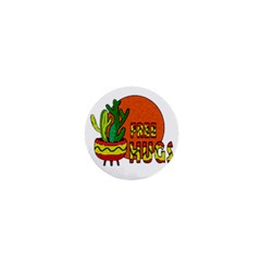 Cactus   Free Hugs 1  Mini Buttons by Valentinaart
