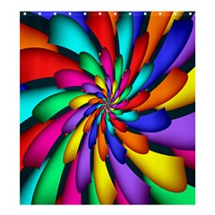 Star Flower Color Rainbow Shower Curtain 66  X 72  (large)  by Mariart