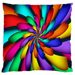 Star Flower Color Rainbow Large Cushion Case (two Sides) by Mariart