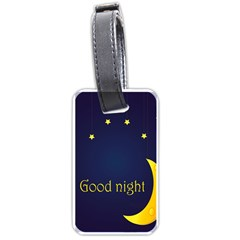 Star Moon Good Night Blue Sky Yellow Light Luggage Tags (two Sides) by Mariart