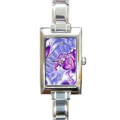 Space Stone Purple Silver Wave Chevron Rectangle Italian Charm Watch by Mariart