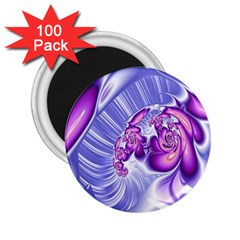Space Stone Purple Silver Wave Chevron 2 25  Magnets (100 Pack)  by Mariart