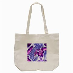 Space Stone Purple Silver Wave Chevron Tote Bag (cream) by Mariart