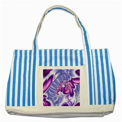 Space Stone Purple Silver Wave Chevron Striped Blue Tote Bag by Mariart