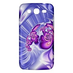 Space Stone Purple Silver Wave Chevron Samsung Galaxy Mega 5 8 I9152 Hardshell Case  by Mariart