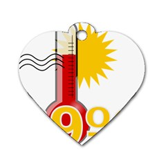 Thermometer Themperature Hot Sun Dog Tag Heart (one Side) by Mariart