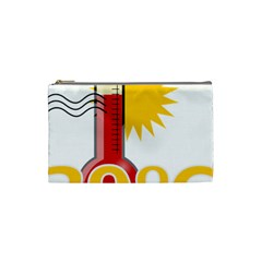 Thermometer Themperature Hot Sun Cosmetic Bag (small)  by Mariart