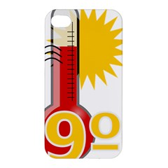 Thermometer Themperature Hot Sun Apple Iphone 4/4s Hardshell Case by Mariart