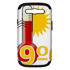 Thermometer Themperature Hot Sun Samsung Galaxy S Iii Hardshell Case (pc+silicone) by Mariart