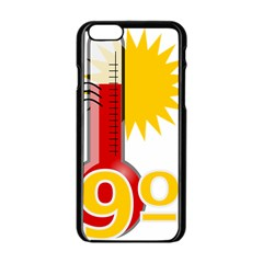 Thermometer Themperature Hot Sun Apple Iphone 6/6s Black Enamel Case by Mariart
