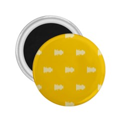 Waveform Disco Wahlin Retina White Yellow 2 25  Magnets by Mariart