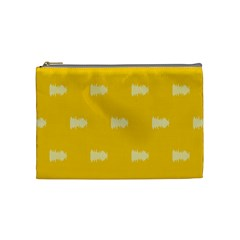 Waveform Disco Wahlin Retina White Yellow Cosmetic Bag (medium)  by Mariart
