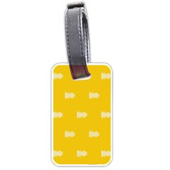Waveform Disco Wahlin Retina White Yellow Luggage Tags (one Side)  by Mariart