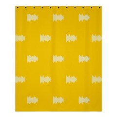 Waveform Disco Wahlin Retina White Yellow Shower Curtain 60  X 72  (medium)  by Mariart