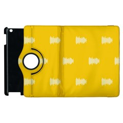 Waveform Disco Wahlin Retina White Yellow Apple Ipad 2 Flip 360 Case by Mariart