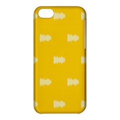 Waveform Disco Wahlin Retina White Yellow Apple Iphone 5c Hardshell Case by Mariart