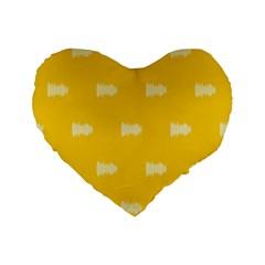 Waveform Disco Wahlin Retina White Yellow Standard 16  Premium Flano Heart Shape Cushions by Mariart