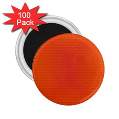 Scarlet Pimpernel Writing Orange Green 2 25  Magnets (100 Pack)  by Mariart