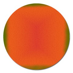Scarlet Pimpernel Writing Orange Green Magnet 5  (round) by Mariart