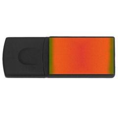 Scarlet Pimpernel Writing Orange Green Usb Flash Drive Rectangular (4 Gb) by Mariart
