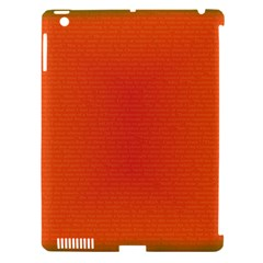 Scarlet Pimpernel Writing Orange Green Apple Ipad 3/4 Hardshell Case (compatible With Smart Cover) by Mariart