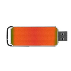 Scarlet Pimpernel Writing Orange Green Portable Usb Flash (one Side) by Mariart