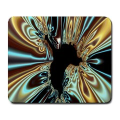 Silver Gold Hole Black Space Large Mousepads by Mariart