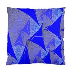 Wave Chevron Plaid Circle Polka Line Light Blue Triangle Standard Cushion Case (one Side) by Mariart