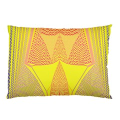 Wave Chevron Plaid Circle Polka Line Light Yellow Red Blue Triangle Pillow Case by Mariart