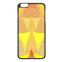 Wave Chevron Plaid Circle Polka Line Light Yellow Red Blue Triangle Apple Iphone 6 Plus/6s Plus Black Enamel Case by Mariart
