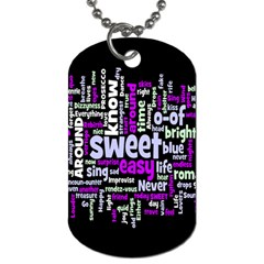 Writing Color Rainbow Sweer Love Dog Tag (two Sides) by Mariart
