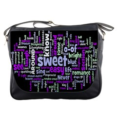 Writing Color Rainbow Sweer Love Messenger Bags by Mariart