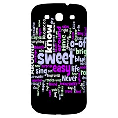 Writing Color Rainbow Sweer Love Samsung Galaxy S3 S Iii Classic Hardshell Back Case by Mariart
