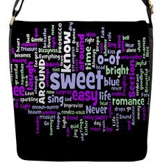 Writing Color Rainbow Sweer Love Flap Messenger Bag (s) by Mariart