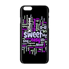 Writing Color Rainbow Sweer Love Apple Iphone 6/6s Black Enamel Case by Mariart
