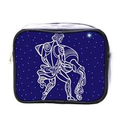 Aquarius Zodiac Star Mini Toiletries Bags by Mariart