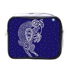 Aries Zodiac Star Mini Toiletries Bags by Mariart