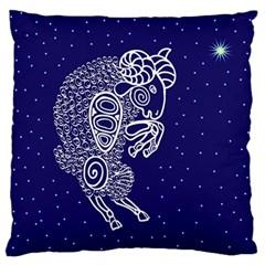 Aries Zodiac Star Standard Flano Cushion Case (one Side) by Mariart