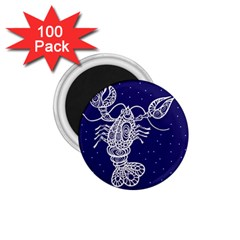 Cancer Zodiac Star 1 75  Magnets (100 Pack)  by Mariart