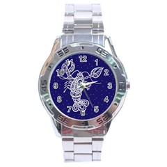 Cancer Zodiac Star Stainless Steel Analogue Watch by Mariart