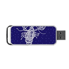 Cancer Zodiac Star Portable Usb Flash (two Sides) by Mariart