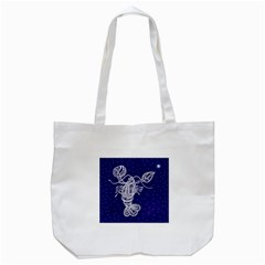 Cancer Zodiac Star Tote Bag (white) by Mariart