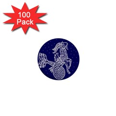 Capricorn Zodiac Star 1  Mini Buttons (100 Pack)  by Mariart