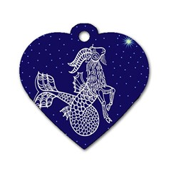 Capricorn Zodiac Star Dog Tag Heart (two Sides) by Mariart