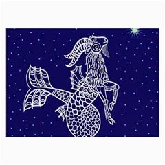 Capricorn Zodiac Star Large Glasses Cloth (2 Side) by Mariart