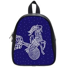 Capricorn Zodiac Star School Bags (small)  by Mariart