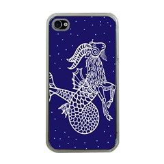 Capricorn Zodiac Star Apple Iphone 4 Case (clear) by Mariart