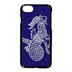 Capricorn Zodiac Star Apple Iphone 7 Seamless Case (black) by Mariart