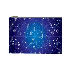Astrology Illness Prediction Zodiac Star Cosmetic Bag (large)  by Mariart